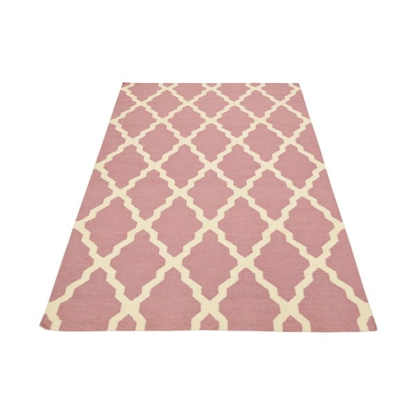 Vlnený koberec Kilim Pink, 160x230 cm