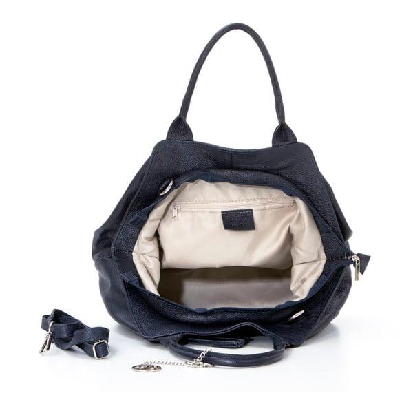 Kožená kabelka Pietro, tmavo modrá