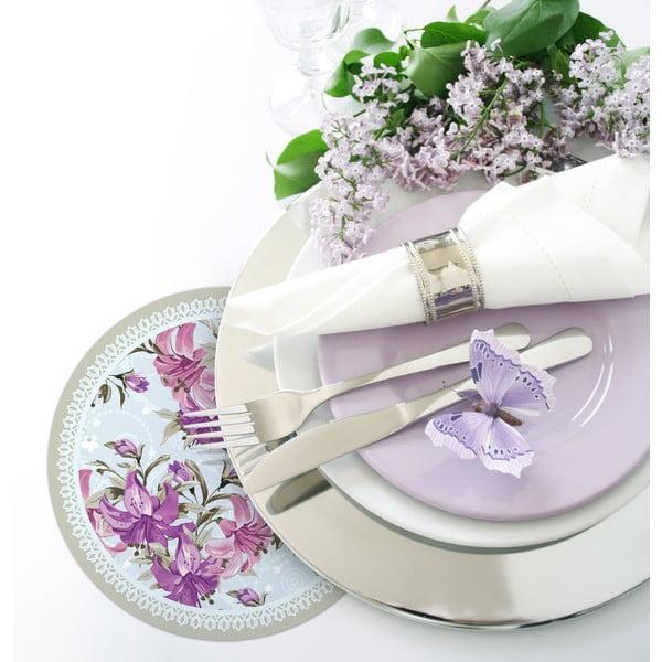 Sada 2 prestieraní Nisha Purple Flowers