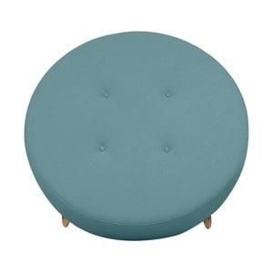 Modrý puf/odkladací stolík Helga Interiors Nolan