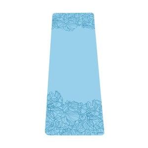 Tyrkysovomodrá podložka na jogu Yoga Design Lab Aadrika Aqua, 5 mm