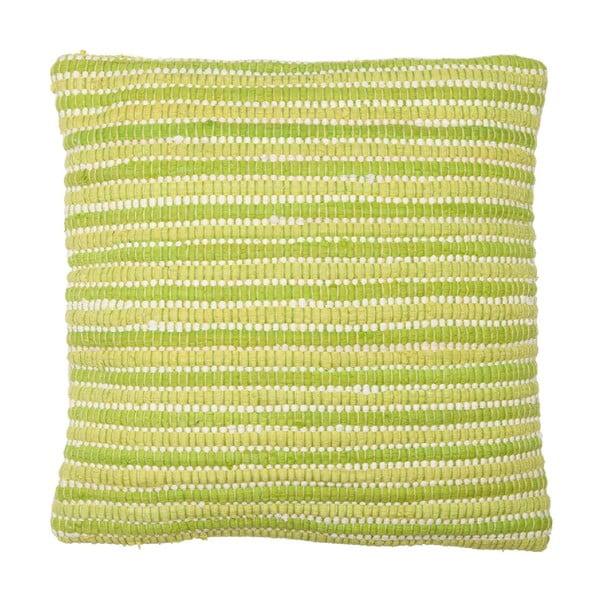 Vankúš Green Stripes, 45x45 cm