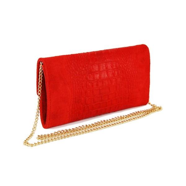 Kožená listová kabelka Snakesi Rosso