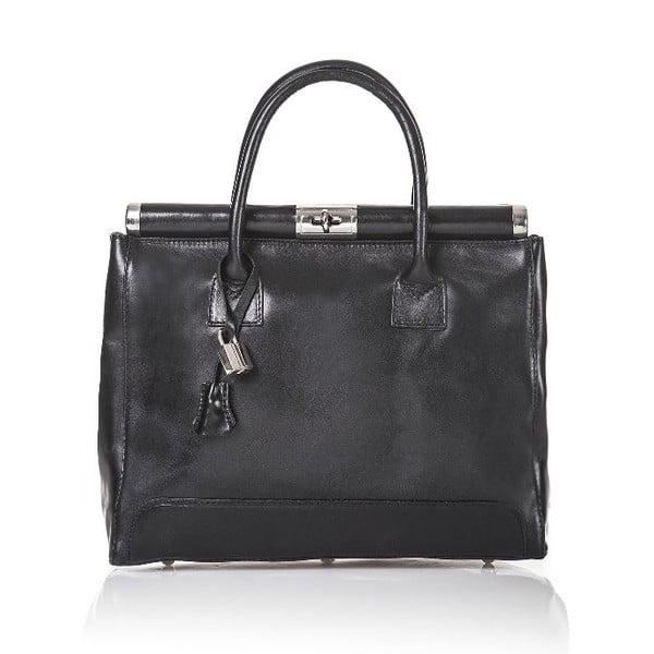 Kožená kabelka Gelso, čierna