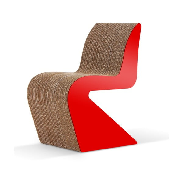 Kartónová stolička Amanda Red