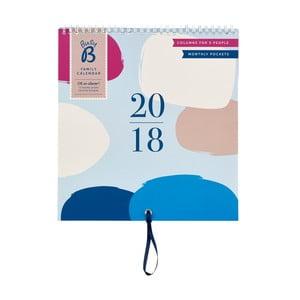 Rodinný kalendár Busy B Contemporary 2018