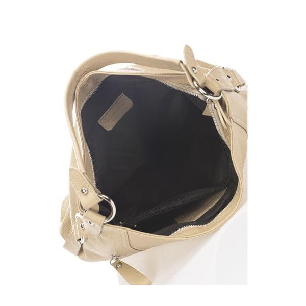 Béžová kožená kabelka Giorgio Costa Teris