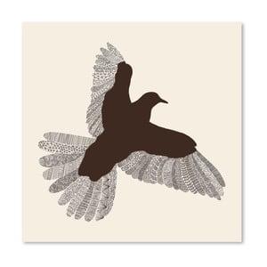 Plagát Bird od Florenta Bodart, 30x30 cm