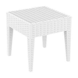 Biely záhradný odkladací stôl Resol Ipanema, 45 × 45 cm
