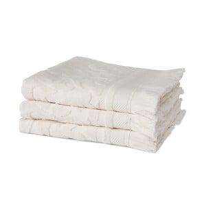 Sada 3 krémových uterákov z organickej bavlny Seahorse, 60x110cm