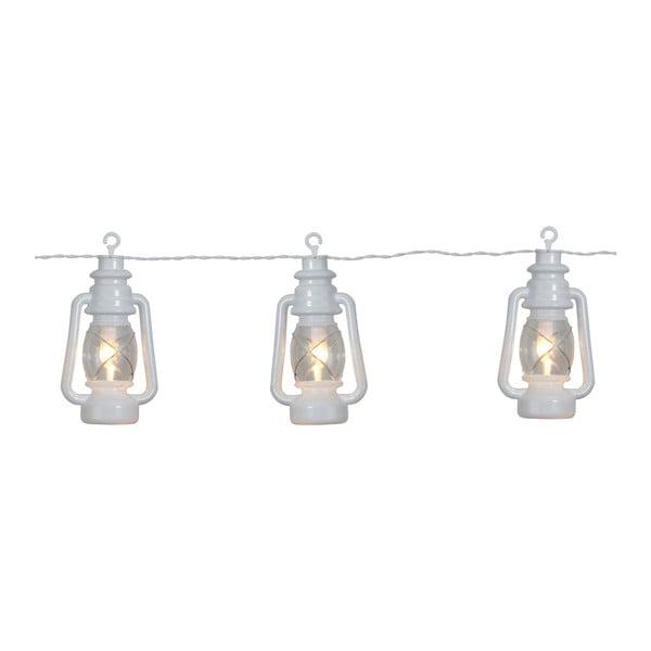 Biela svetelná LED reťaz vhodná do exteriéru Best Season Lantern, 8 svetielok
