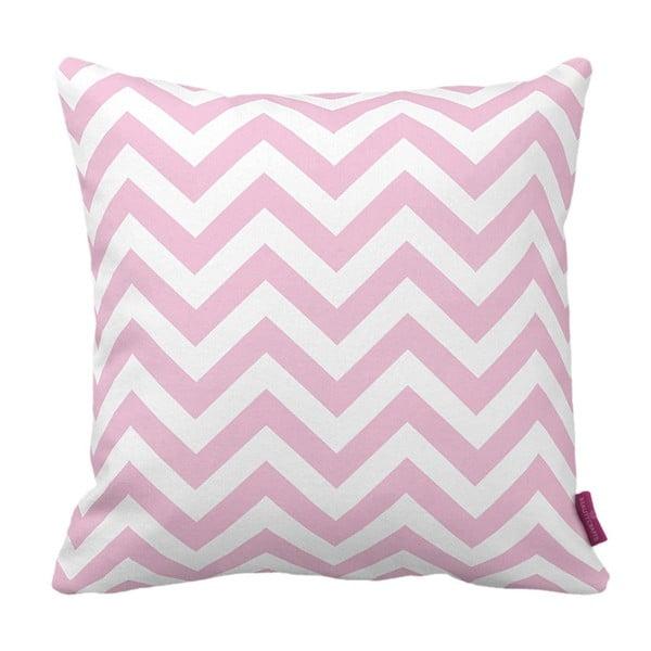 Ružovo-biely vankúš Homemania Zig Zag Pink, 43 x 43 cm