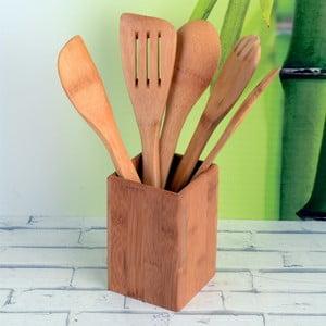 Sada 5 bambusových nástrojov so stojanom Luxy