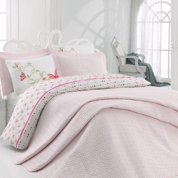 Obliečky s plachtou Pink, 200x220 cm