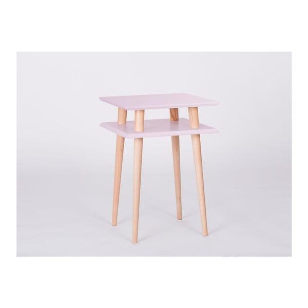 Konferenčný stolík UFO Square Pink, 43cm (šírka) a 61 cm (výška)