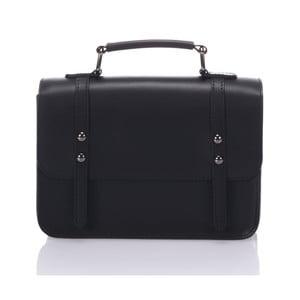 Čierna kožená kabelka Lisa Minardi Cristel