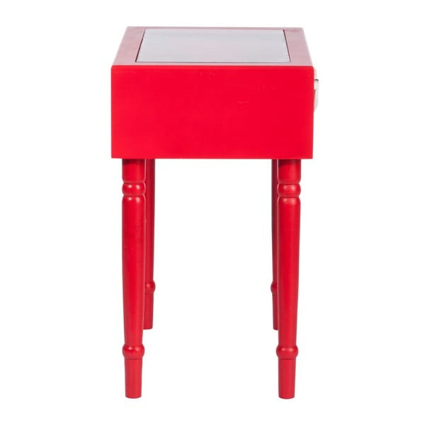 Odkladací stolček Diva Red, 45x32x52 cm