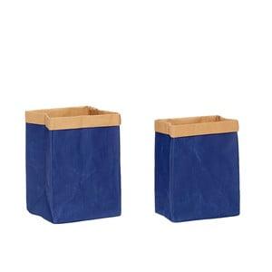 Sada 2 modrých papierových úložných vriec Hübsch Frederik