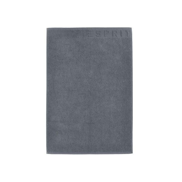 Antracitovosivá kúpeľňová predložka Esprit Solid, 60x90cm