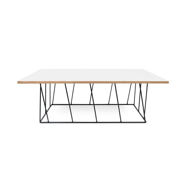 Biely konferenčný stolík s čiernymi nohami TemaHome Helix,120cm