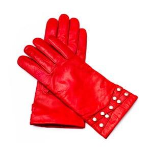 Dámske červené kožené rukavice Pride & Dignity Madrid, veľ. 8