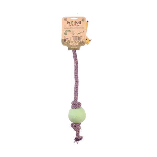 Povraz s loptičkou na hranie Beco Rope 45 cm, zelený