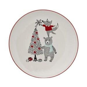 Biely kameninový tanier Bloomingville Twinkle, ⌀ 25 cm