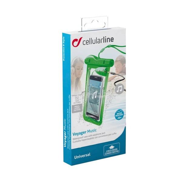 Vodoodolné univerzálne puzdro Cellularline VOYAGER MUSIC, zelené