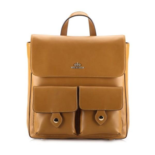 Kožená kabelka/batôžtek Elegance Honey