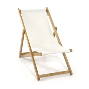Skladacie ležadlo Beach, biele
