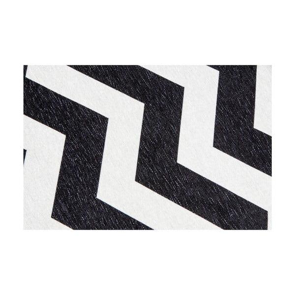 Vysokoodolný kuchynský koberec Webtappeti Optical Black White, 60×220cm
