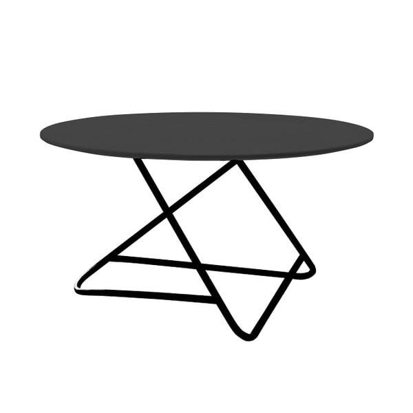 Čierny stôl Softline Tribeca, 75 cm