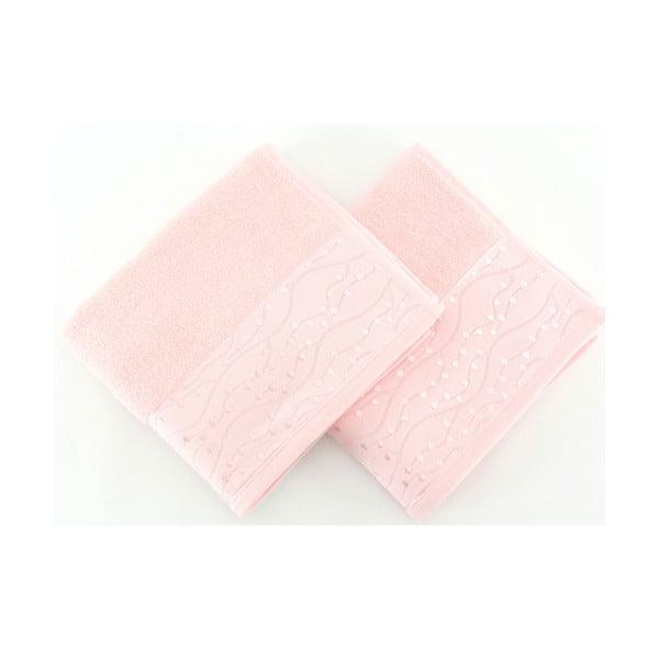 Sada 2 ružových uterákov z čistej bavlny Tomuruk, 50 x 90 cm
