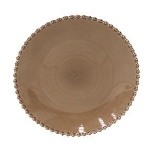 Kakaovohnedý kameninový tanier Costa Nova Pearl, ⌀28cm