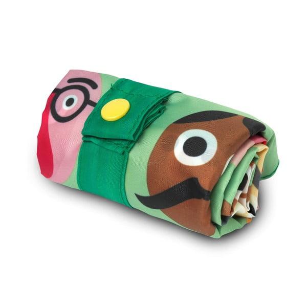 Skladacia nákupná taška skapsičkou LOQI Faces