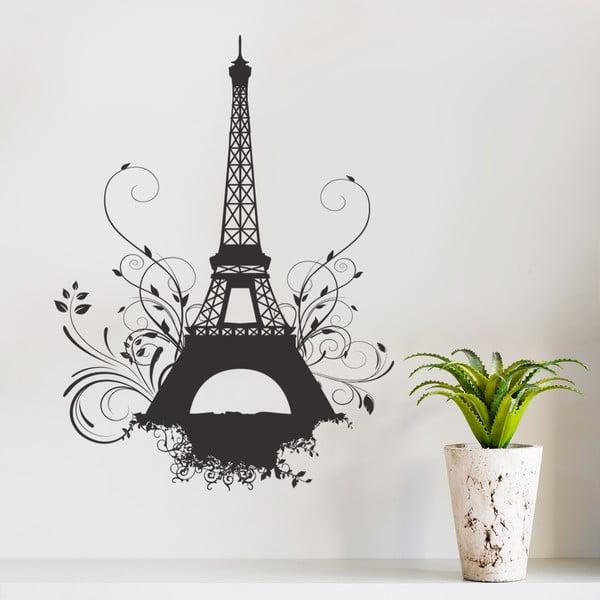 Dekoratívna samolepka na stenu Eiffel