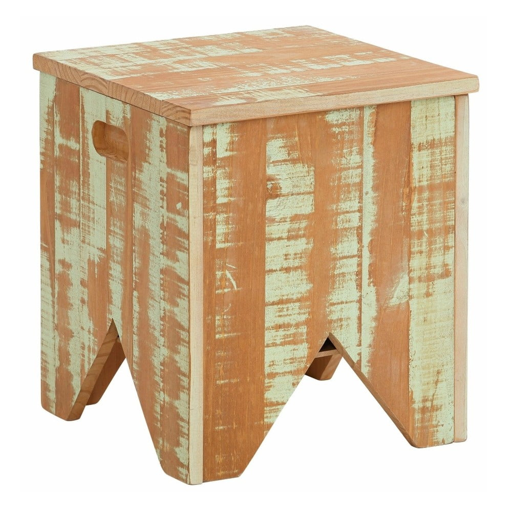 Zelená úložná truhlica z masívneho borovicového dreva Støraa Marilyn