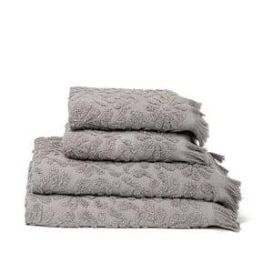 Set 4 uterákov a osušiek Riad Grey, 50x90 cm + 70x140 cm