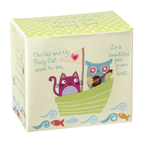 Kasička v darčekovom boxe Owl