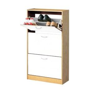 Drevená skrinka na topánky s 3 priehradkami Premier Housewares Shoe Cupboard