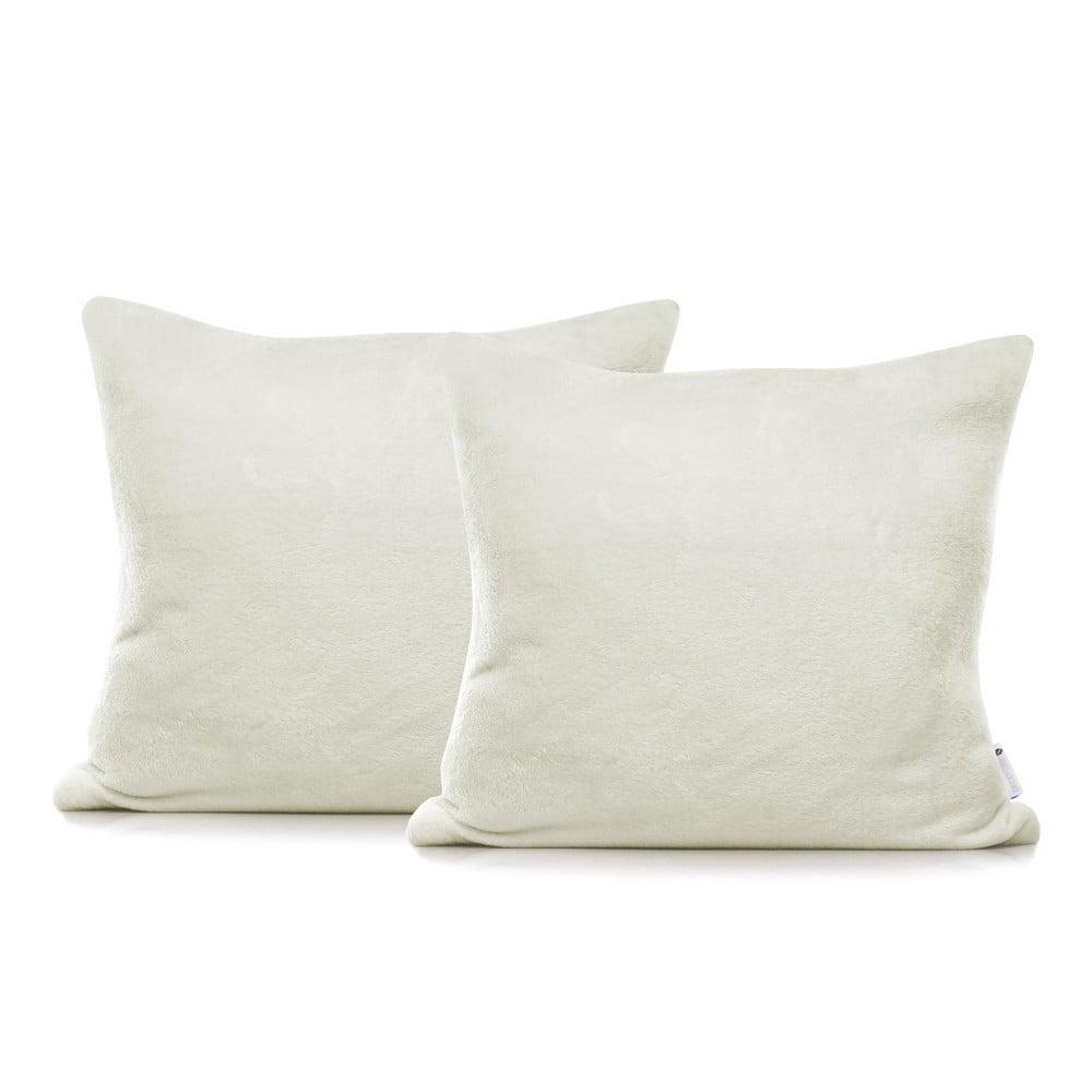 Sada 2 krémových obliečok na vankúše DecoKing Mic, 45 × 45 cm