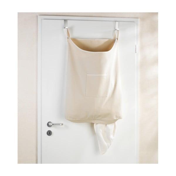 Béžový závesný kôš na bielizeň Wenko Door Laundry