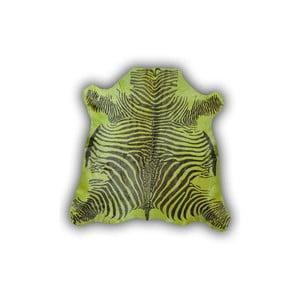 Kožená predložka Normand Cow Zebra Green, 170x190 cm