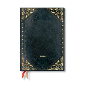 Diár na rok 2019 Paperblanks Midnight Rebel Horizontal, 13 x 18 cm