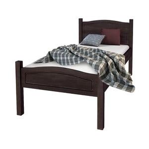 Tmavohnedá posteľ z masívneho borovicového dreva Støraa Barney, 90 x 200 cm