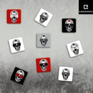 Sada 9 magnetiek Eurographics Rocking Skulls