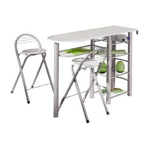 Barový stoík s dvomi stoličkami Frolly