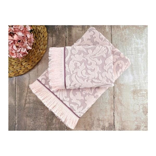 Sada 2 šeříkových uterákov Irya Home Royal, 50x90 cm