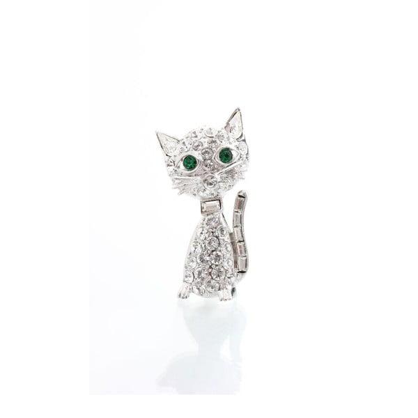 Brošňa so Swarovski Elements Laura Bruni Kitty Cat