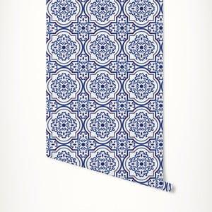 Modro-biela samolepiaca tapeta LineArtistica Rhonda, 60×300cm